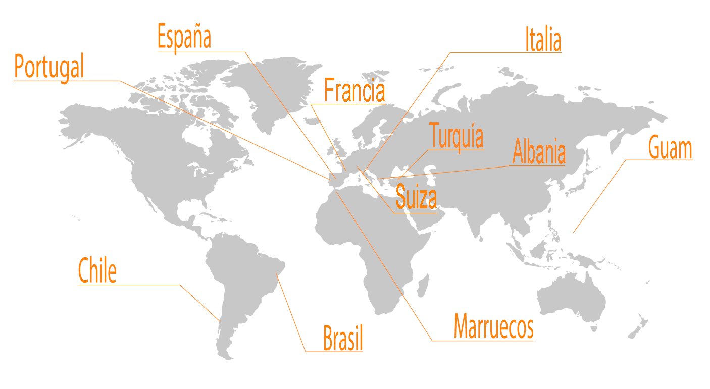 Mapa presencia mundial